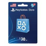 Tarjeta Psn Card 30 Dolares Ps4 Usa Digital - Prepagochile