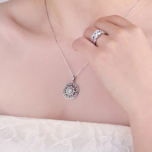 3b5416c5d6df Collar Plata 925 Sol Radiante Mujer   Arany Joyas