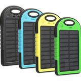 Pack 2 Bateria Externa Portatil Solar 20000 Mah Linterna Led