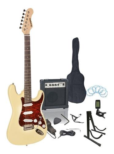 Guitarra Eléctrica Kit Strato 20w Amp Scorpion Envío Gratis