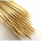 50 Palitos Brochetas 40cm Anticuchos Espiropapas De Bamboo