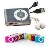 Reproductor Mp3 Clip Tipo Shuffle Con Audifonos Y Cable