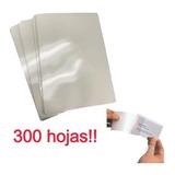 300 Micas Lamina Termolaminadora Plastificadora Doble Carnet