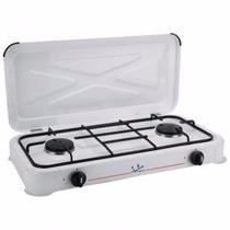 Cocina Cocinilla 2 Platos Con Regulador Manguera Abrazaderas