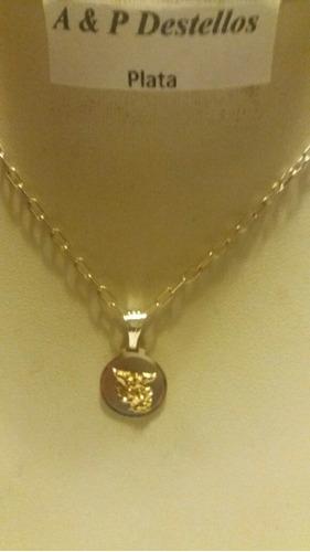 02b8136d463f Collar San Miguel Arcángel Plata Con Oro Cadena Tradicional