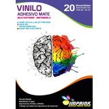 Vinilo Adhesivo Mate A4/20hojas..envio Gratis X 3 Un!