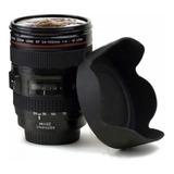 Tazon Mug Tipo Lente Cámara Fotográfica Con Parasol + 5 Unid