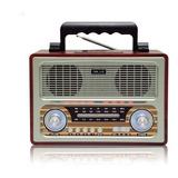 Radio Parlante Retro Vintage Am Fm Bluetooth Sd / K