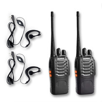 Pack 2 Radio Transmisor Walkie Baofeng 888s Con Manos Libres