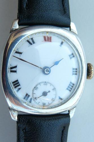 8d255b4e5738 Oferta Reloj Rolex Militar Plata Solido Suizo 15 Rubis1930