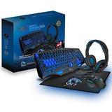 Kit Gamer 3dfx Teclado Mouse Headset Mousepad 4 En 1 Premium