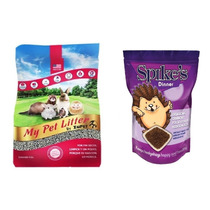 2 Alimento Erizos Spike`s + 2 Sustrato Papel My Pet Litter