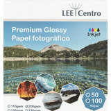 100 Hojas Papel Doblefaz Glossy A4  Lee Centro 200gr