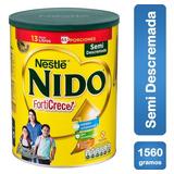 Leche Nido Forticrece Semi Descremada 1560g Tarro