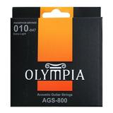 Cuerdas Guitarra Acústica Extra Light 10-47 | Olympia Ags800