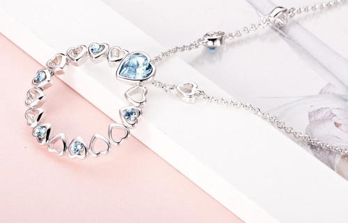 7d5e17cf4df Collar Largo Cristales Swarovski - Corazones Joyas Mujer