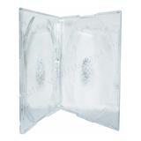 Pack 10 Cajas Cd Slim Doble Transparente 5mm Caja Premium