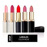 Pack 5x Labiales Color Riche L'oréal Paris