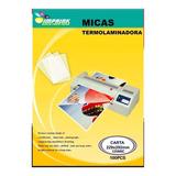 100 Micas  Termolaminadora Plastificadora Carta 125mic