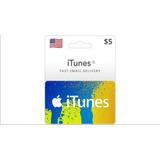 Tarjeta Itunes Gift Card 5 Dólares Cuenta Usa Envío Digital