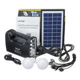 Kit Solar Emergencia Camping 220v Ampolletas 36 Hrs / 80501