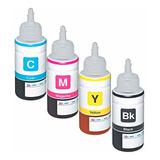 Pack 4 Tintas Alternativas Para Epson 70ml L110 L120 L350