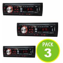 Pack 3 Radio Auto Fm Mp3 Usb Sd Aux 200w 01491-36907/ Fernap