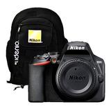 Cámara Nikon D3500 Body + Mochila Nikon Carion