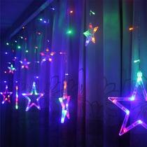 Cascada Lluvia De Estrellas Led Multicolor