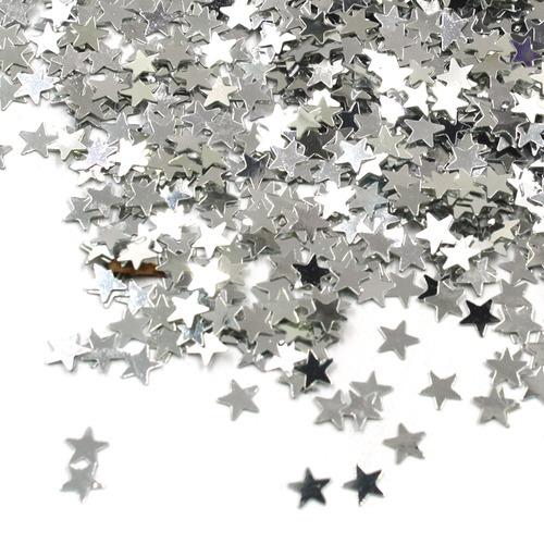 f9e6bb362ed Star Confeti Star Mesa Plata Brillante Glitter Estrellas Len