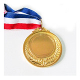 Medalla Deportiva Metálica C/cinta 6,5cm Oro,pla,br  Forcecl