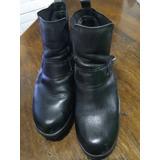 Zapatos Negros De Cuero 38 Americanino