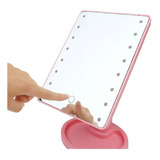 Espejo 22 Luz Led Tactil Maquillaje Usb Portatil Giratorio
