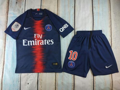 Camiseta+short Psg Niño 2018-2019 Mbappe-neymar 623c996dc964b
