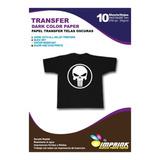 Papel Transfer Telas Oscuras 10 Hojas. Envio Gratis X 3 Un!