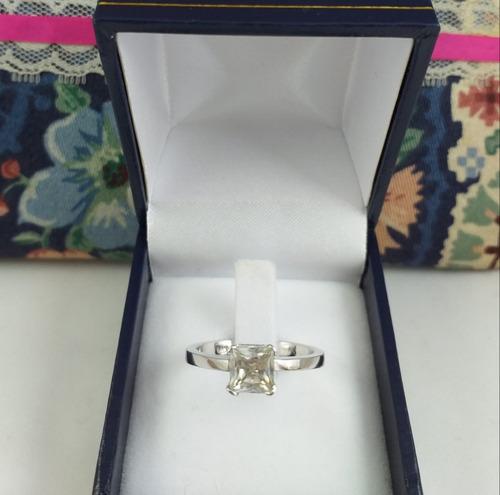 fd175ce21285 Anillo Oro Blanco 18 K Diamante 100 Puntos 4.30 Gramos .nº17