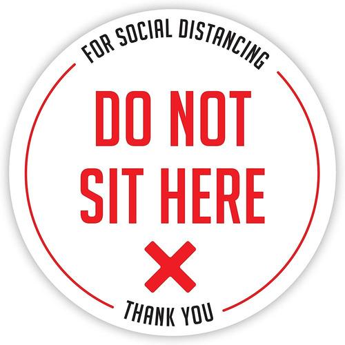 Seal Do Not Sit Here | Calcomana De Asiento Con Distanciamie