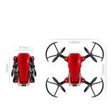 Mini Dron Plegable Color Rojo Ev9814