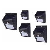 Pack 5 Foco Solar 20 Led Sensor De Movimiento