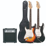 Pack Guitarra Eléctrica Epic Zurdo + Amp 10w Y Funda