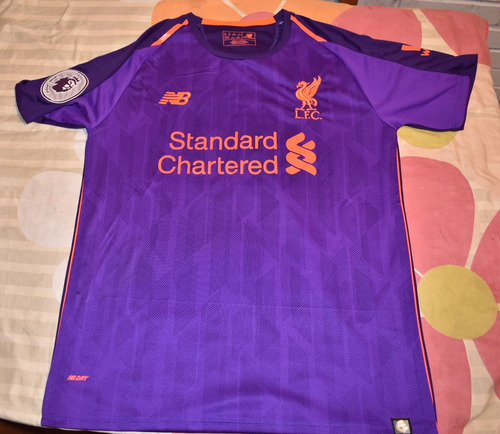eab8221ba0f Camiseta Fútbol Liverpool 2018-2019 Nueva Visita Talla M