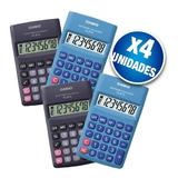 Pack X4 Calculadora Casio Hl-815l Gran Display 8 Dígitos