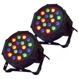 Pack 2 Foco Par 18 Led Rgb Dmx Fiesta Luces