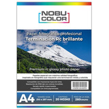 Papel Foto Profesional Rc Brillante 260 Gr. A4 20 Hojas