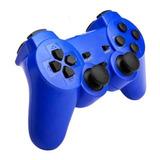 Joystick Bluetooth Para Ps3 Con Cable Usb Blue - Revogames®
