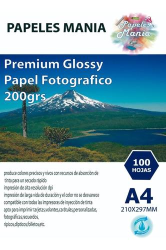 Papel Fotografico Glossy A4 100 Hojas Calidad Premium