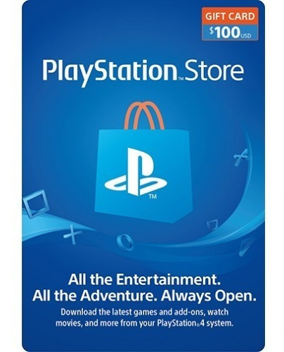 Tarjeta 100 Dolares Psn Playstation Gift Card 100usd