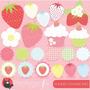 Kit Imprimible Frutillias Imagenes Clipart
