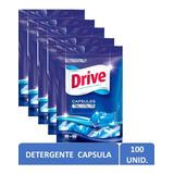 Pack 5  Detergente Conc. Drive Pods Cápsula 100 Un Ariel