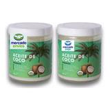 Aceite De Coco Orgánico 1l. 2 Frascos De 500 Ml